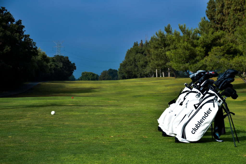 Clublender bags at golf course
