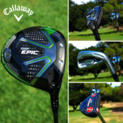 Callaway Epic driver, hybrid; Apex iron; Odyssey putter