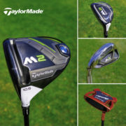 TaylorMade M2 driver, hybrid, irons and Spyder putter