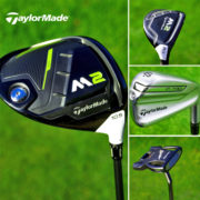 TaylorMade M2 driver, hybrid, P790 irons and Spider putter