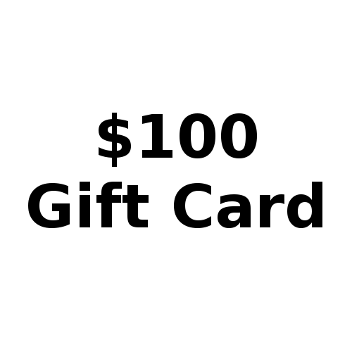 Button for $100 gift card